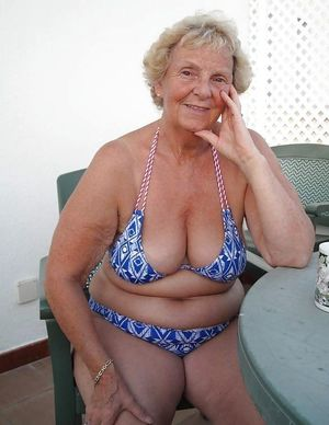 busty granny nude