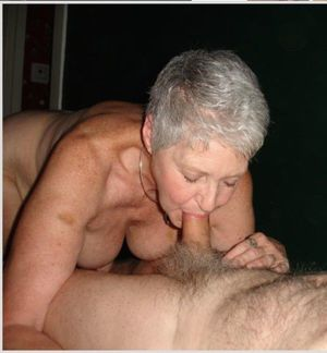 granny blowjob in car