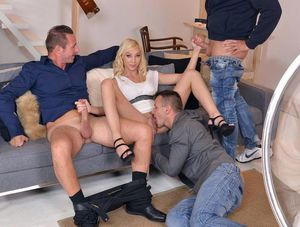 monica blonde groupsex
