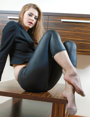 ladies in nylons