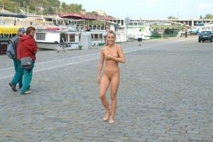 embarrassed nudist